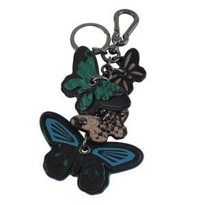 NEW Coach Clustered Butterfly Keychain Bag Charm